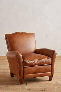 Anthropology: Floral-Trim Leather Corbetta Chair