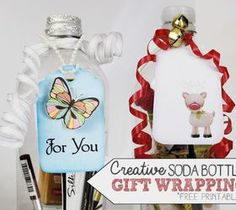DIY Pallet ideas for Home: Use Soda Bottles to Wrap Gifts!
