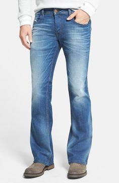 e904674b Men's DIESEL 'Zathan' Bootcut Jeans (0831D) Mens Bootcut Jeans, Denim Jeans