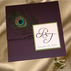 Luxurious Peacock Wedding Invitation