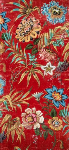 ▨texturas - Aquitaine century French design Warner Textile Archive 'design of the year' in 2012 Motifs Textiles, Textile Prints, Textile Patterns, Print Patterns, Floral Patterns, Vintage Textiles, Floral Pattern Wallpaper, Fabric Wallpaper, Red Wallpaper