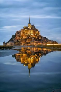 "Amazing Snaps: Mont Saint Michel, France  Looks exactly like from the movie ""Tangled"""