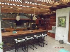 Pergola Kits Attached To House Info: 6827821292 White Pergola, Deck With Pergola, Pergola Patio, Pergola Kits, Pergola Ideas, Outdoor Kitchen Bars, Outdoor Kitchen Design, Patio Design, Bar Patio