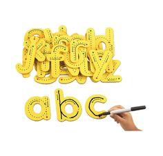 Kæmpe bogstaver med skriveveje
