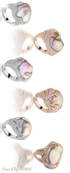 Yoko London ♥✤Baroque Pearl beauties, each setting designed exclusively for each unique pearl.