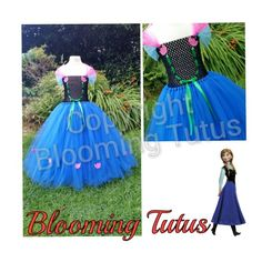 Frozen Anna inspired tutu dress Www.facebook.com/bloomingtutusuk