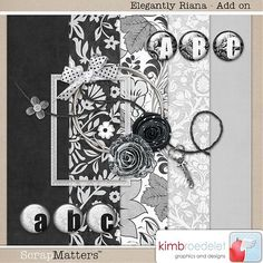 Elegantly Riana tiny kit #freebie from Kim Broedelet #scrapbook #digiscrap #scrapbooking #digifree #scrap