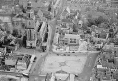 Luchtfoto Grote Markt, 1954