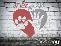 #HopeAndLove  Handprints and pawprints joined together make anything possible!  #Modropy supports 4 Paws For Ability