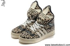 Best Gift Adidas X Jeremy Scott Big Tongue Leopard Shoes For Sale