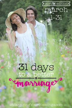 Mark your calendars! The bi-annual 31 Days to a Better Marriage (spring 2015 edition) will run March 1-31 over at ManagingYourBlessings.com! 31 marriage bloggers for 31 days of pure encouragement for Christian-based marriage!