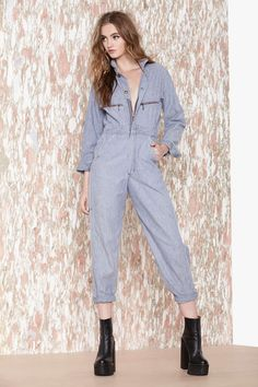 Vintage All Work No Play Denim Coveralls | Shop What's New at Nasty Gal