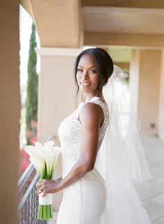 Chic bride in lace wedding gown: http://www.stylemepretty.com/2016/09/12/villa-mara-malibu-wedding/ Photography: Julian Rose - http://www.jillianrosephotography.com/