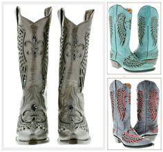 Sequin fleur de lis & angel wing inlay genuine leather cowgirl boots! Built in comfort system, & a design that's on the shaft, toe & heel so it can be seen no matter what you wear!  $199 and FREE USA SHIPPING with code FREESHIP20! COWGIRLS UNTAMED  #cowgirl #cowgirlboots #western #sequin #horse #ridingboots #fleurdelis #leatherboots #rodeo #horseriding #barrelracing #weddingboots  #onlineshopping #sequinboots #brownboots #women #fashion #turquoise #angelwing #inlay #Christian #faith #red… Cowgirl Style Outfits, Cowgirl Fashion, Cowgirl Outfits, Cowgirl Boots, Fashion Boots, Fashion Outfits, Western Style, Western Wear, Western Boots