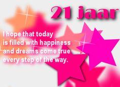 verjaardag 21 jaar leuke 21 jaar felicitatie plaatjes | Verjaardagskaarten  verjaardag 21 jaar