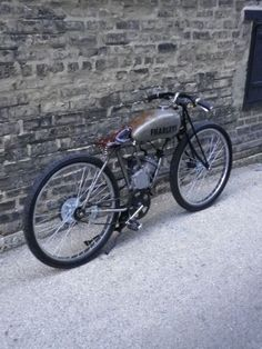 Motorized Bicycle With Vintage Patina