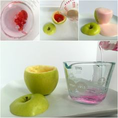 Back to School Science Experiment for Kids with apples for some fun fizzing science to spark their interest in learning this school year.