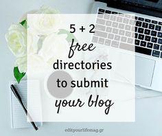 5  2 blog directories για να καταχωρήσεις το blog σου ΔΩΡΕΑΝ http://ift.tt/2am31FC  #edityourlifemag