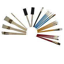 Assorted Styles Rustic Wood Drafting 2 Wooden Workshop Brushes