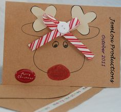 Reindeer Card Christmas Card