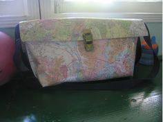enrHedando: Como hacer un Bolso de Papel con un Mapa