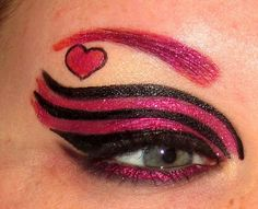 queen of hearts Festa Monster High, Monster High Birthday, Monster High Party, Color Contacts For Halloween, Halloween Make Up, Halloween Party, Draculaura Halloween, Draculaura Costume, Monster High Makeup