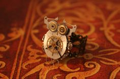 Steampunk Owl Ring