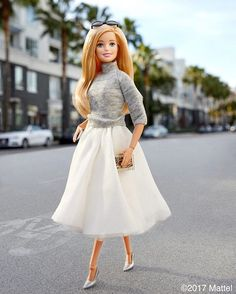 WEBSTA @ barbiestyle - Street chic. Putting my best for forward in these silver stilettos!  #barbie #barbiestyle
