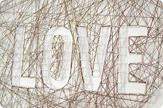DIY Heart String Art Project at Vintage Revivals