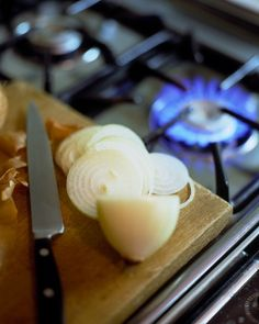 Good Things for the Kitchen (14 of 15) Cutting Tears, Don't weep over chopped onions. If you cut them near an open flame, the gaseous sulfur compounds they release into the air will burn off before they can irritate your eyes.