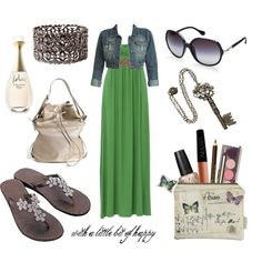 Casually Yours.... long green flowing dress............... LOVE IT!