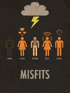 Misfits Minimalist Poster, I liked Simon in season one, I love him in season two. This show is addictive