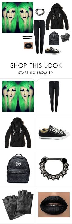 """For u Ema"" by barbie-stardolls ❤ liked on Polyvore featuring Hollister Co., Converse and Karl Lagerfeld"