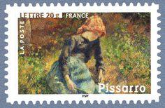 Camille Pissarro - «Jeune fille à la baguette» 1881 Les impressionnistes