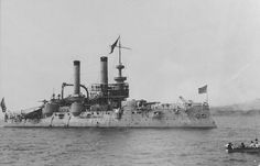 Looks like a USN armored cruiser. Any ideas which one?