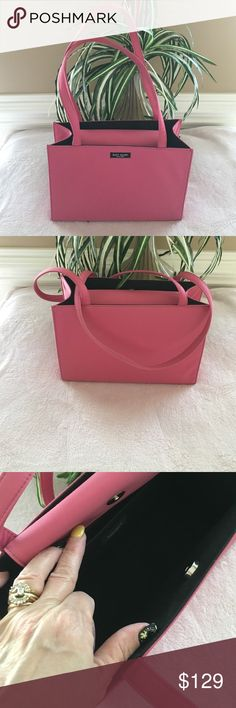Kate Spade Handbag Authentic Begonia Pink ( medium pink) Kate Spade Tote. Nylon with a snap closure, dual straps. iPad fits plus more much more. Excellent condition. kate spade Bags Totes