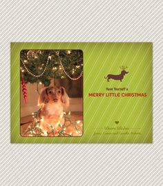 Printable Dachshund Christmas Card by OliveYouDesign on Etsy, $10.00