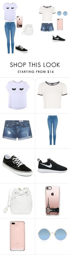 """Untitled #25"" by hanaybi ❤ liked on Polyvore featuring Chicnova Fashion, Topshop, AG Adriano Goldschmied, George, Vans, NIKE, Mansur Gavriel, Casetify and Sunday Somewhere"