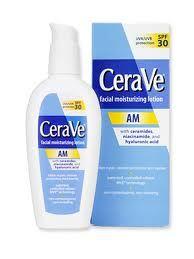 Great moisturizer for sensitive skin; SPF 30; reasonably priced.