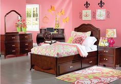 Shop for a Nicolette Cherry  5 Pc Twin Bedroom at Rooms To Go Kids. Find  that will look great in your home and complement the rest of your furniture.