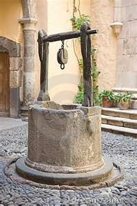 Photo about Vintage water well in a medieval village in Spain. Image of ancient, stone, wishing - 3399473 Old Water Pumps, Gazebos, Wheelbarrow Garden, Water Well, Wishing Well, Make A Wish, Water Features, Fountain, Medieval