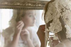 Laced veil by Erica Elizabeth Designs