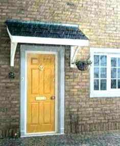 Flat Roof Porch Canopy available from Chiltern Timber Porch Canopy Kit, Over Door Canopy, Front Door Awning, Porch Overhang, Backyard Canopy, Porch Roof, Side Porch, Canopy Outdoor, Porch Canopy Designs