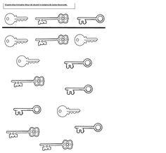 werkblad 1kl visuele discriminatie sleutels