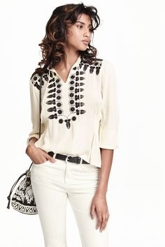 Blusa bordada   H&M