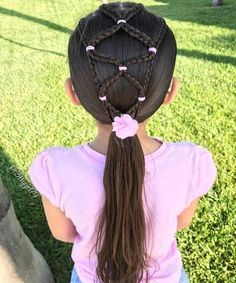 "✨""Only when we are brave enough to explore the darkness will we discover the infinite power of our light. Elastic micro braids into a low ponytail from a few days ago. Little Girl Braids, Cute Little Girl Hairstyles, Baby Girl Hairstyles, Princess Hairstyles, Up Hairstyles, Braided Hairstyles, Girl Hair Dos, Kid Hair, Micro Braids"
