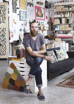 Artis Mike Perry's studio in Wallpaper* Magazine: design, interiors, architecture, fashion, art