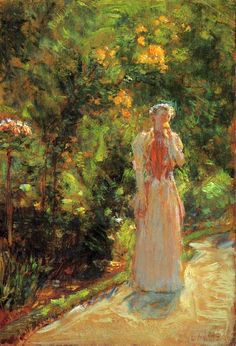 childe hassam paintings | Mrs. Hassam in the Garden - Childe Hassam - WikiPaintings.org