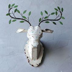 Metal Deer Head With Branch Antlers  $58