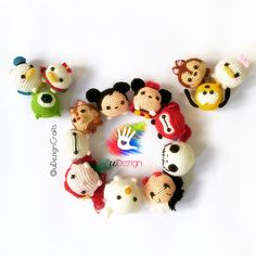 Items similar to Handmade Tsum Tsum Amigurumi dolls on Etsy Amigurumi Patterns, Amigurumi Doll, Crochet Patterns, Crochet Disney, Tsumtsum, Mickey And Friends, Kawaii, Crochet Animals, Crochet Dolls